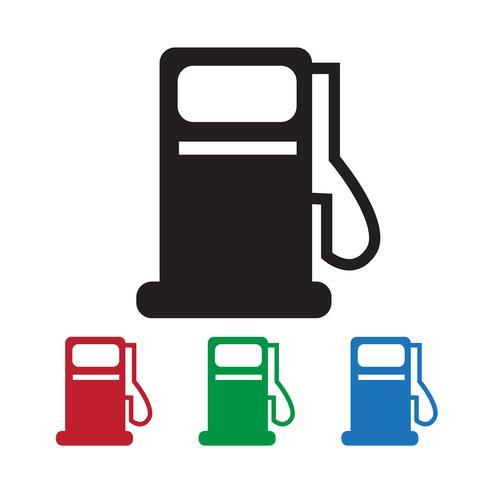 icona della stazione petrolifera vettore