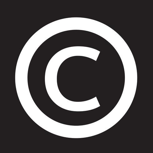 icona simbolo di copyright vettore