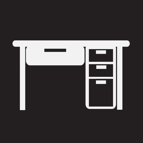 Icona dell'ufficio da tavolo vettore