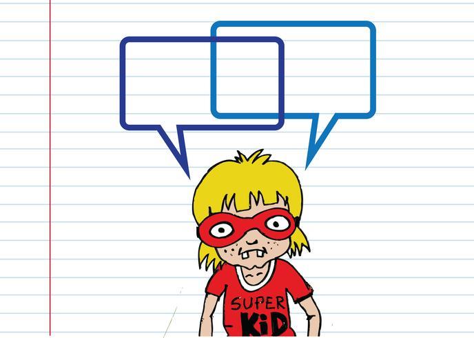 Persone che pensano e persone che parlano con i fumetti di dialogo vettore