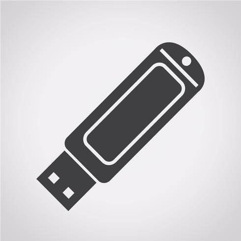 Icona unità flash USB vettore