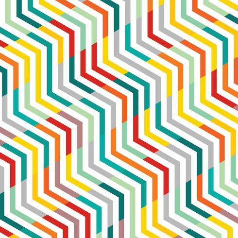 Estratto della linea di fondo del modello geometrico di zigzag del modello. vettore