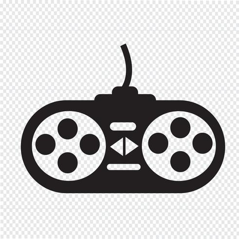 icona del controller di gioco vettore