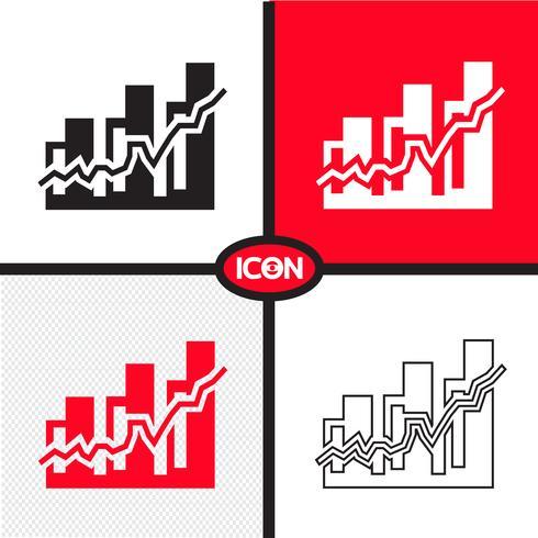 Icona grafico grafico vettore