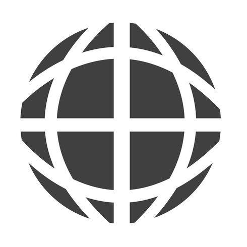 Icona del globo terrestre vettore