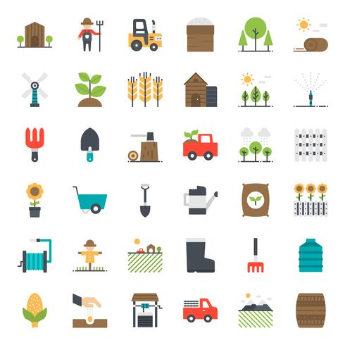 Icona piana di agricoltura vettore