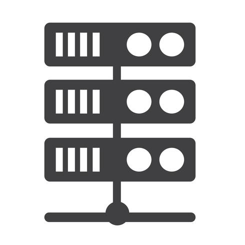 Icona Server Computer vettore