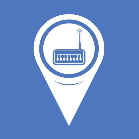 Icona del router del puntatore della mappa vettore