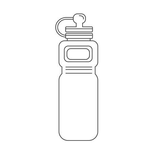 icona sport bottiglia d'acqua vettore