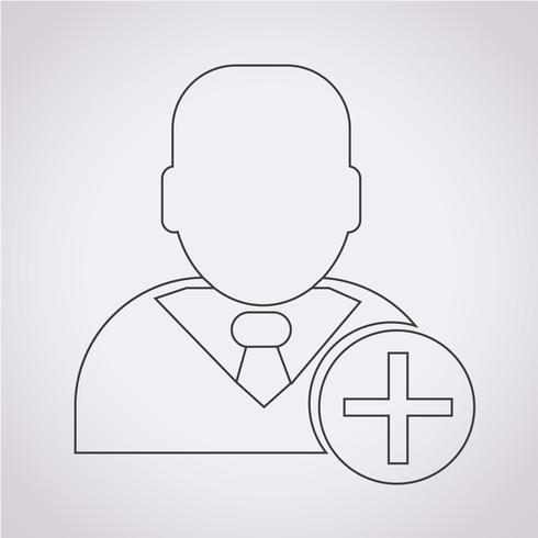 Segno di simbolo dell'icona dell'uomo d'affari vettore