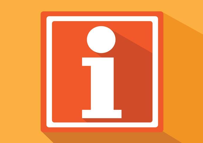 Icona del segno di informazioni vettore