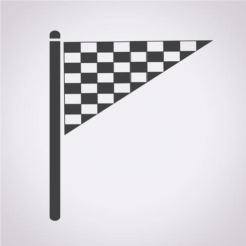 bandiera icona simbolo segno vettore