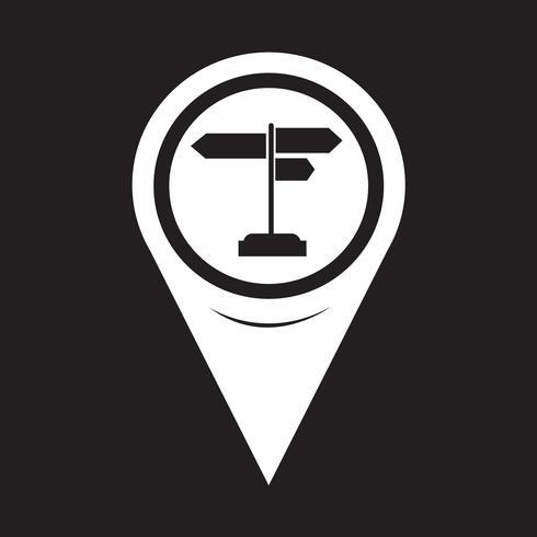 Icona del cartello puntatore mappa vettore