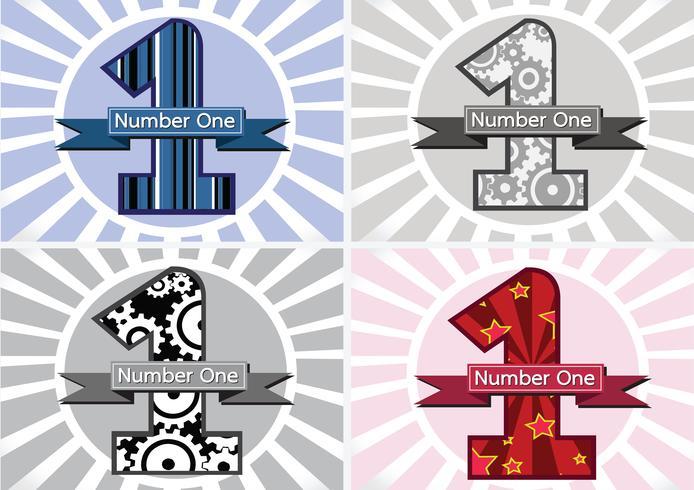 Il numero uno e il primo classificato vincono il simbolo con i nastri vettore