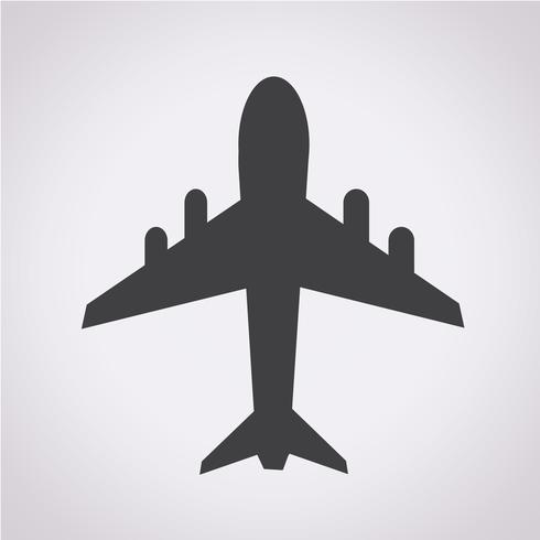segno di simbolo dell'icona dell'aeroplano vettore