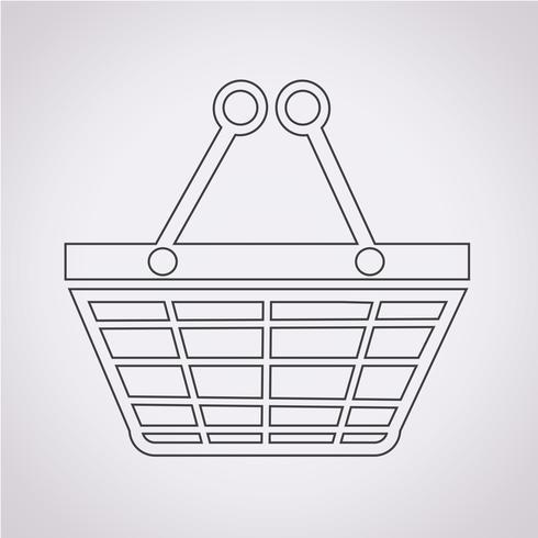 Shopping icona simbolo segno vettore