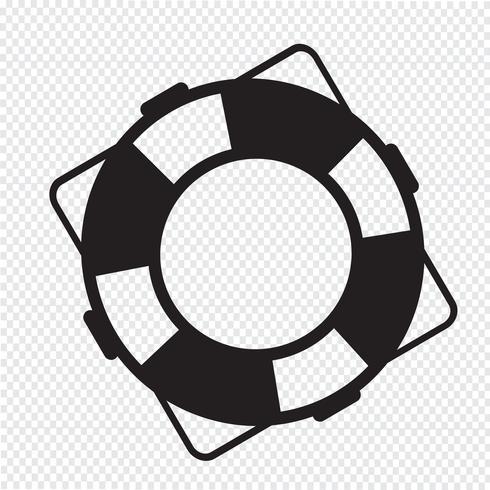 segno simbolo icona salvagente vettore