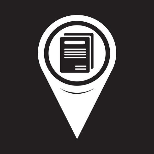 Icona del libro del puntatore della mappa vettore