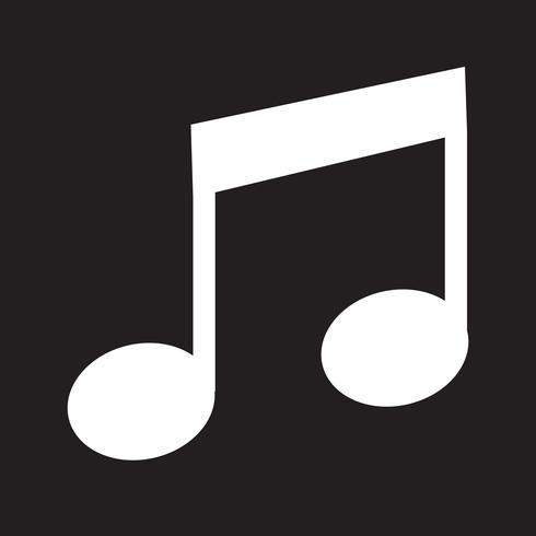 Icona della nota musicale vettore