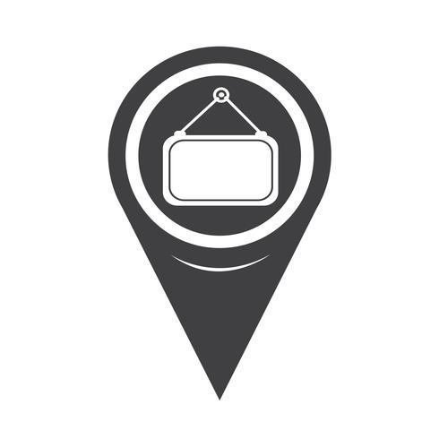 Icona di etichetta vuota puntatore mappa vettore
