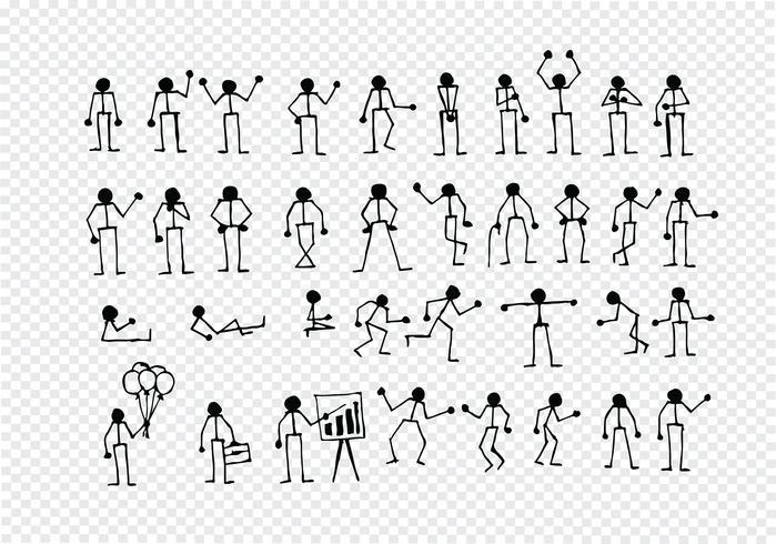 Pittogramma di simbolo del segno di azioni della gente vettore