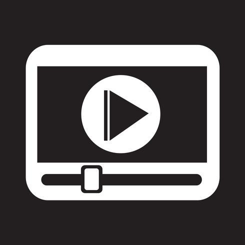 icona del lettore multimediale vettore