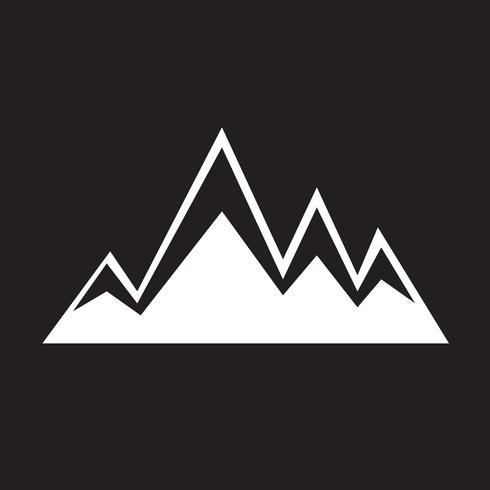 montagne simbolo icona segno vettore