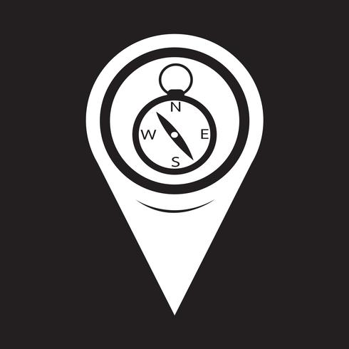 Icona bussola puntatore mappa vettore
