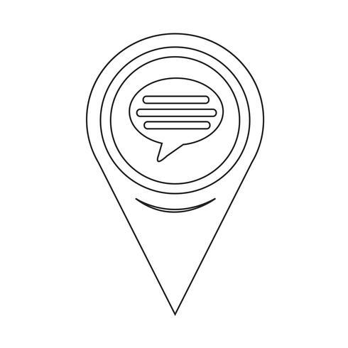 Icona commento puntatore mappa vettore