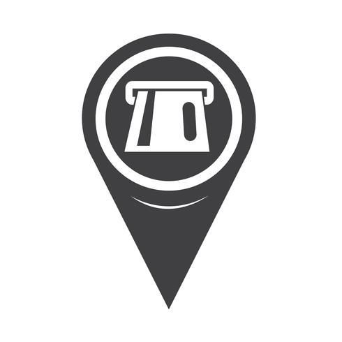 Icona ATM del puntatore della mappa vettore