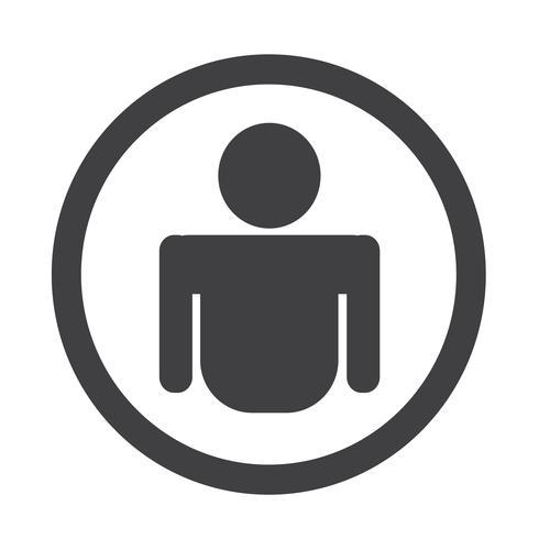 Segno simbolo icona persona vettore