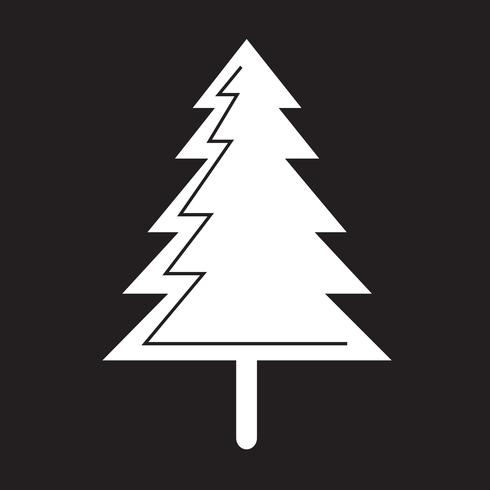 icona dell'albero di Natale vettore