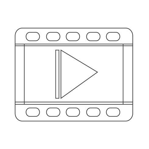segno simbolo icona video vettore