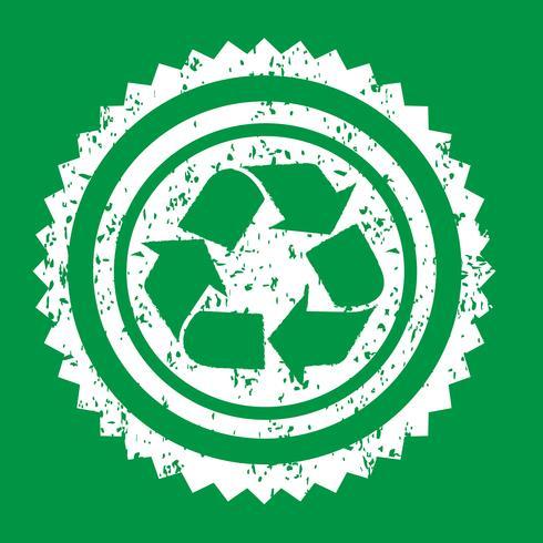 Ricicli il segno simbolo segno vettore