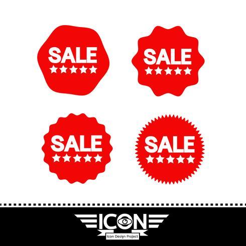 segno di simbolo dell'icona di vendita vettore