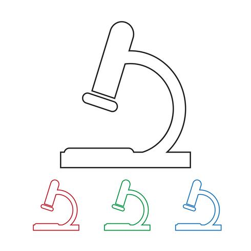 microscopio icona simbolo segno vettore