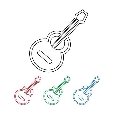 icona della chitarra acustica vettore
