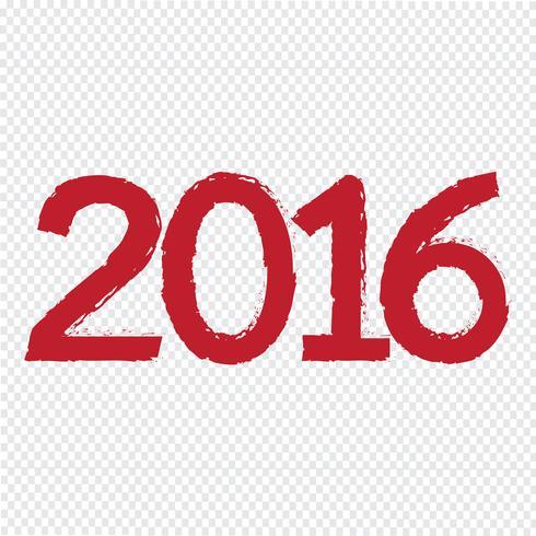 Felice nuovo anno 2016 vettore