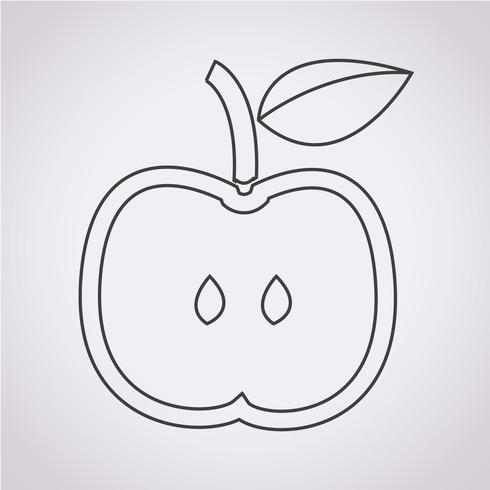 Icona Apple segno simbolo vettore