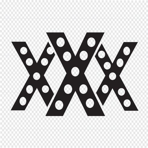 XXX icona simbolo segno vettore