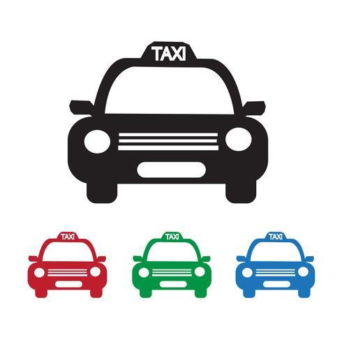 Icona di taxi vettore