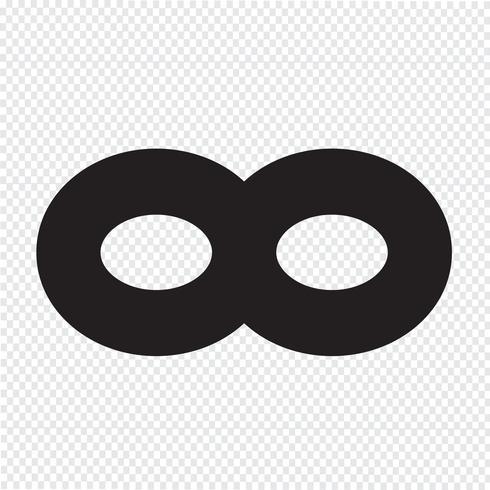 Icona simbolo senza limiti vettore