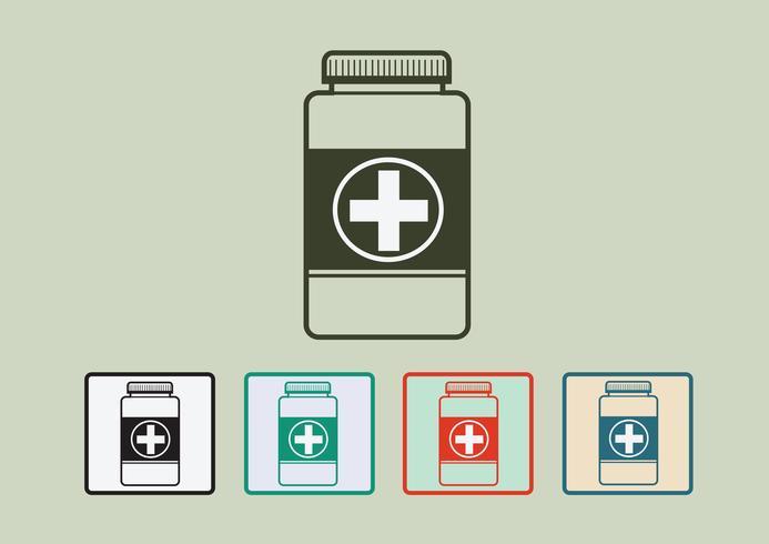 Segno di simbolo di bottiglia di medicina vettore