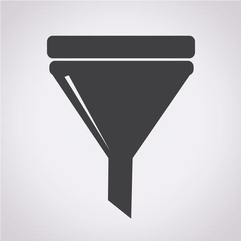 filtro icona simbolo segno vettore