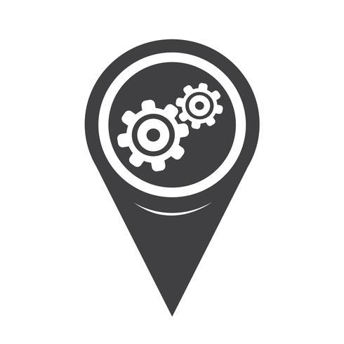 Icona mappa puntatore vettore