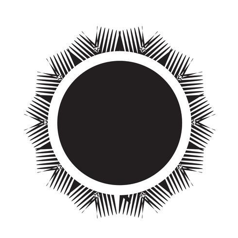 Segno simbolo icona sole vettore