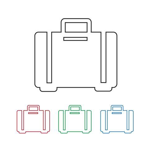 bagaglio icona simbolo segno vettore