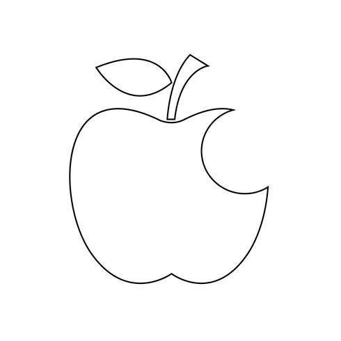 segno di simbolo dell'icona della mela vettore