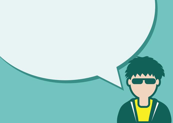 Icona e persone della gente che parlano con il fumetto vettore