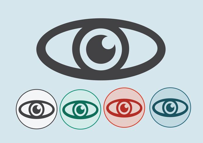 Icona occhio simbolo segno vettore